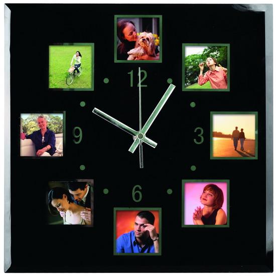 Часы из фотографий на стене своими руками