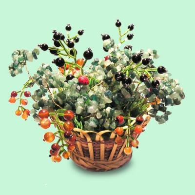 Цветы из полудрагоценных камней