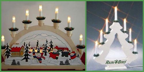 Новогодние и рождественские свечи от Dragon Gifts.
