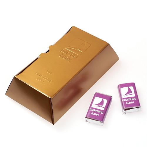 Как сделать золотой слиток из картона